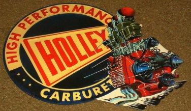HOLLEY HIGH PERFORMANCE CARBURETOR METAL TIN SIGN  NEW!