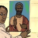 Good Times Black Jesus Ned the Wino John Amos  Amaral Cartoons Poster