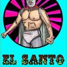 EL SANTO   Mexican Wrestler    Amaral Cartoons Poster