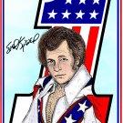 Evel Knievel American Hero Amaral Cartoons Poster