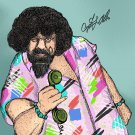 Captain Lou Albano  Amaral Cartoons Poster