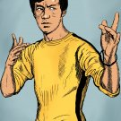 Bruce Lee  Amaral Cartoons Poster