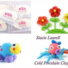 White polymer modeling clay air dry cold porcelain non toxic clay 6pcs