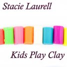 Air dry Polymer Clay Colorful Effects Kids Play Clay 24pcs 1oz bars