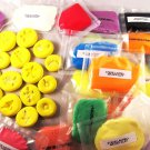 polymer clay & air dry clay lot with Silicone molds Huge clay lot 55pcs