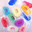 Cold porcelain air dry modeling polymer clay set 3pcs  White, red & blue