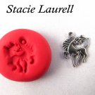 Horse pendant mold for polymer clay Jewelry mold + 2pks of clay