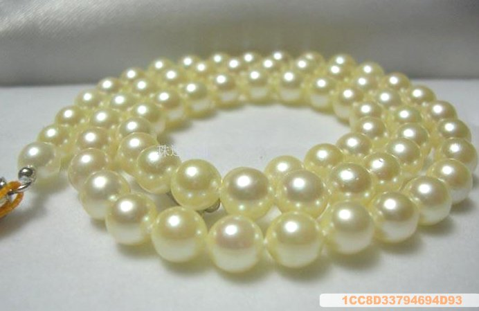 Sea Water Pearl Necklace 6-6.5 mm Watery Yellow