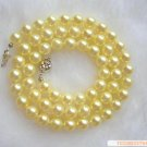 Sea Water Pearl Necklace 6-6.5 mm Golden Yellow