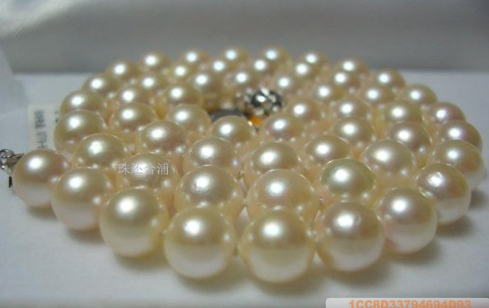 Sea Water Pearl Necklace 7.5-8 mm White with Pink