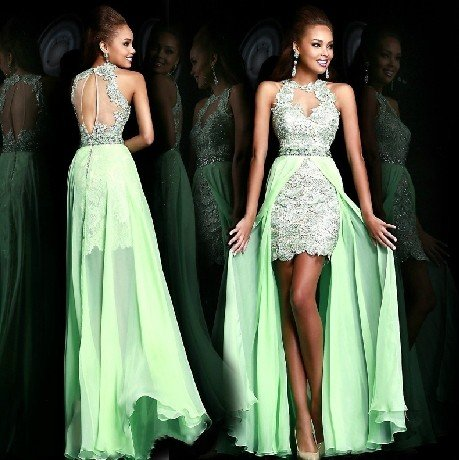 Free Shipping ANFT1058 New Bridesmaid Wedding Gown Prom Ball Evening Dress Size 6-8-10-12-14