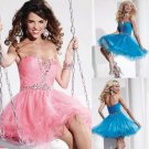 ANFT8011  Free Shipping New Bridesmaid Wedding Gown Prom Ball Evening Dress Size 6-8-10-12-14