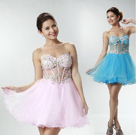 ANFT1054  Free Shipping New Bridesmaid Wedding Gown Prom Ball Evening Dress Size 6-8-10-12-14