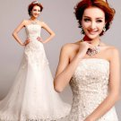 Free Shipping AN2287 Lace Bridal Wedding Gown Prom Ball Evening Dress Size 6-20