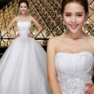 Free Shipping 5807 Floor Lace Bridal Wedding Gown Prom Ball Evening Dress Size 6-20