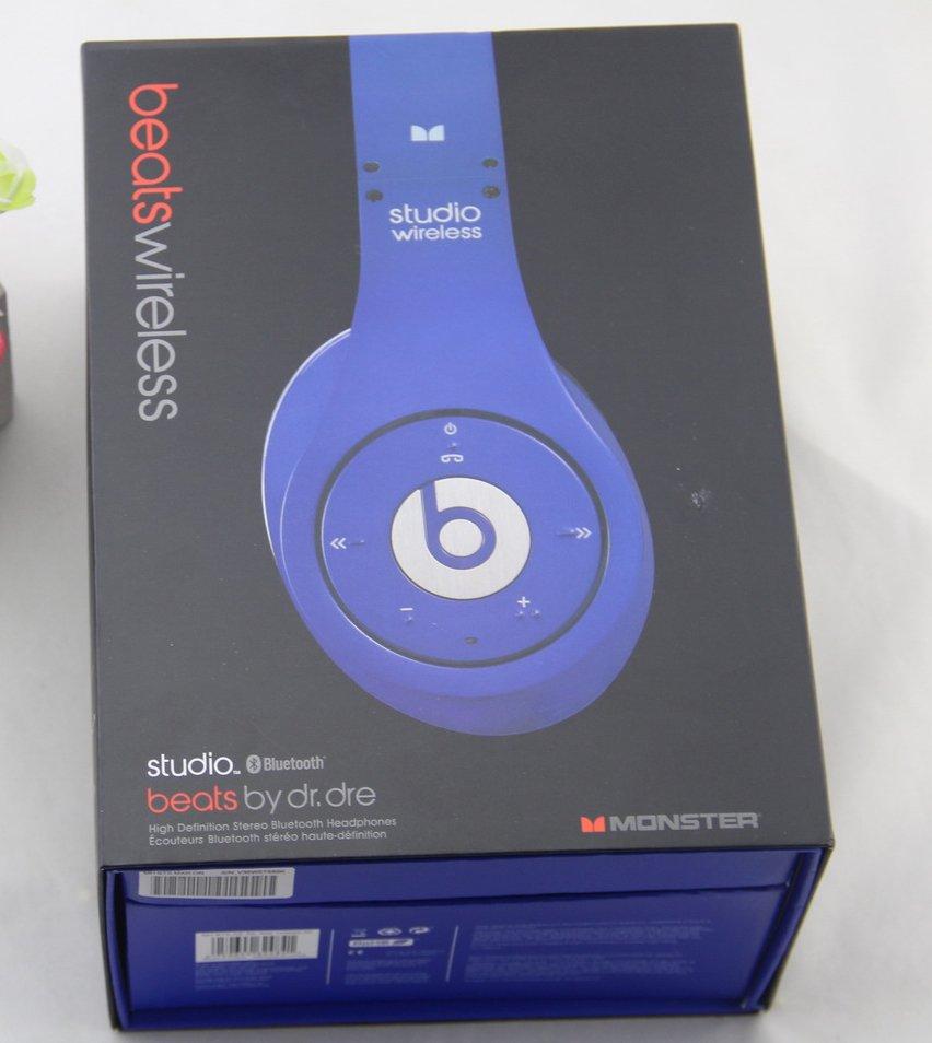 $140 Headphones Studio Wireless 1.0 Beats by Dr. Dre  - Blue free shipping