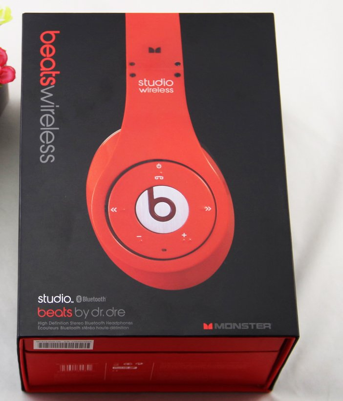 $140 Headphones Studio Wireless 1.0 Beats by Dr. Dre  - RED free shipping