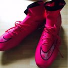 SIZE 8US Free Shipping Nike mercurial High Cleats FG pink all size soccer shoes WITHOUT BOX
