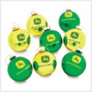 Ball Ornaments - John Deere - 8 pc.
