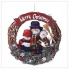 Snowman Family Wreath