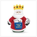 Deck The Halls Poker Santa