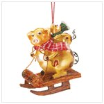 Christmas Golden Pigs Ornament