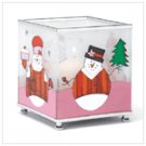 Snowman Glass Votive Holder