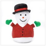 Snowman Plaid Mini Bean Bag