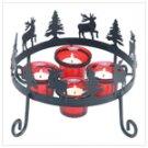 Rustic Reindeer Candleholder