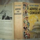 Advise And Consent. Allen Drury, author. 1st Edition. VG/VG-