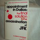 Appointment In Dallas. Hugh C. McDonald, author. PB. NF