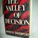 The Valley Of Decision. Marcia Davenport, author. Peoples Book Club Edition. VG+/VG