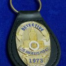 LAPD Leather Key Ring FOB