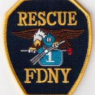 FDNY Rescue 1 Patch # Fire Department New York