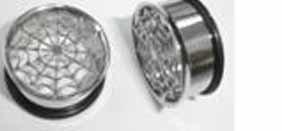 Surgical Steel Single Flare Webbs Tunnel Plug 0g