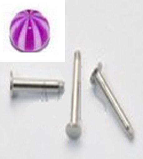16g Stripe Purple White/S.S. Steel Monroes
