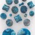 """Azurite Stone Plug 3/8"""""""