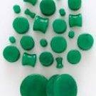 "Jade Stone Plug 3/8"""
