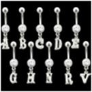 Letter A Belly Button Ring