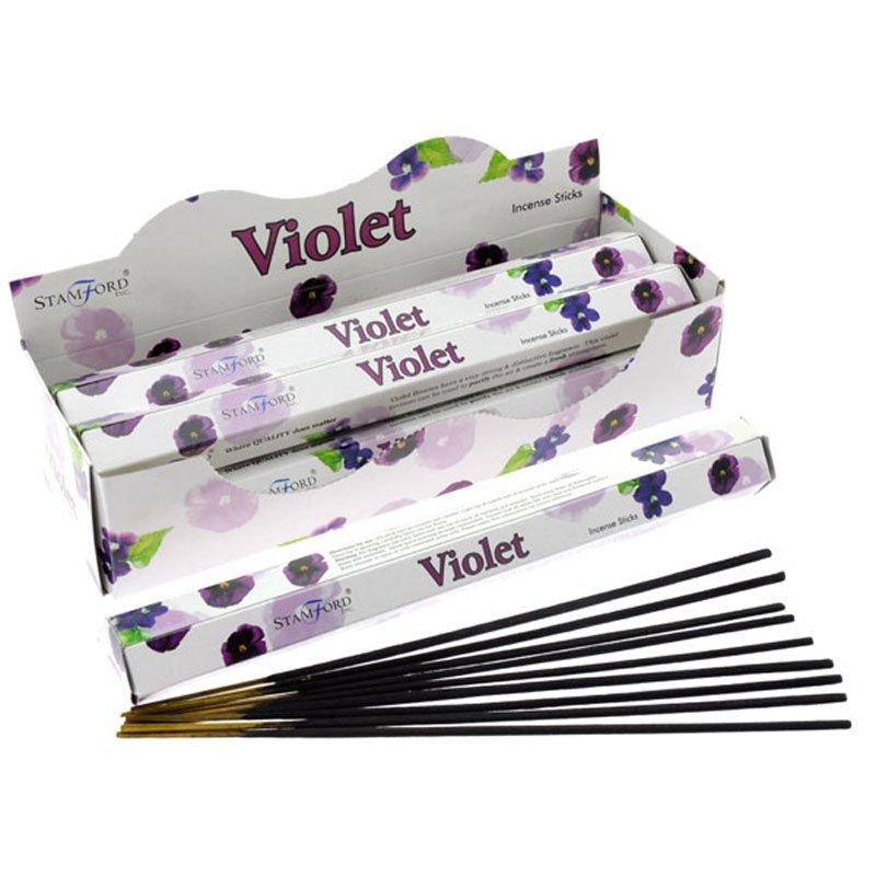 Stamford Hex Incense Sticks - Violet (6 Packs)