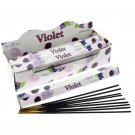 Stamford Hex Incense Sticks - Violet (6 Packs)