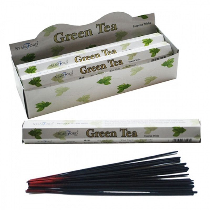 Stamford Hex Incense Sticks - Green Tea (6 Packs)