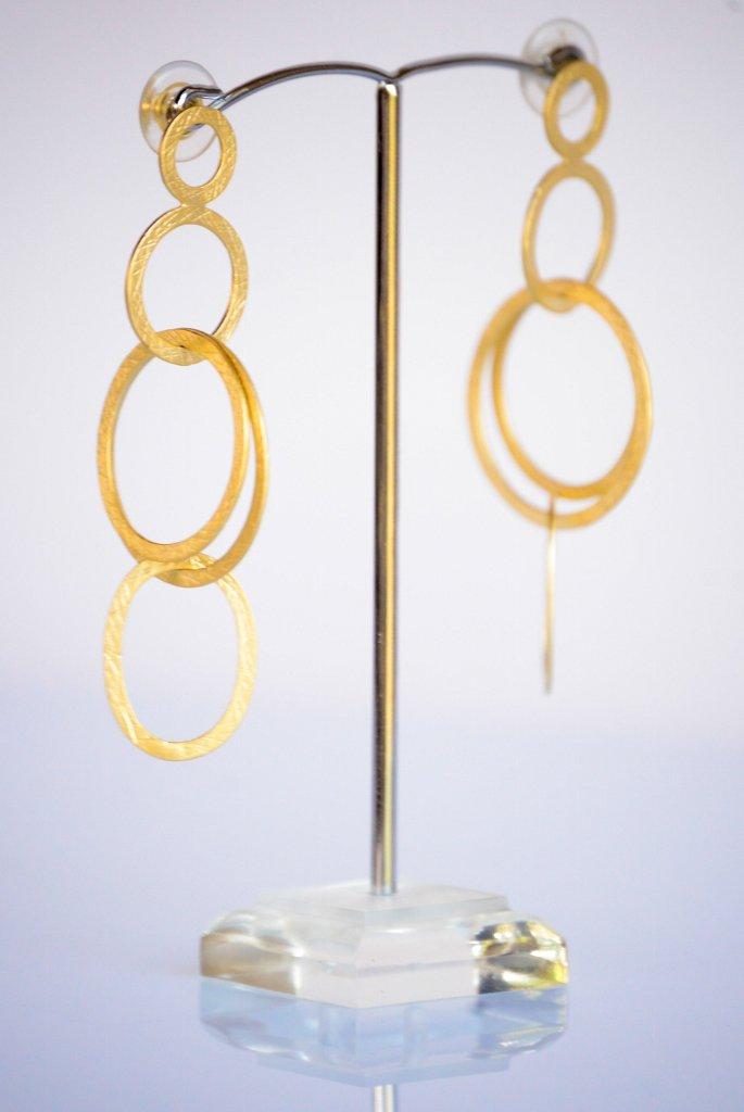 Gold Rings Earrings - Elegant Gold Filled Earrings - Post Earrings