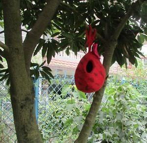 Felted Wool Bird House Handmade in Nepal