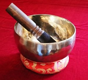 Handmade Tibetan Meditation Singing Bowl 6.5 inch with Free Cushion and Mallet