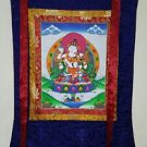 Vajrasattva Shakti Thangka, Thanka, Tanka Painting in Silk Brocade- Original Art