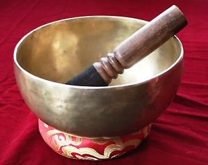 Handmade Tibetan Singing Bowl  6.5  inch with Free Cushion and Mallet