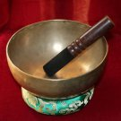 Old Tibetan Singing Bowl 7.9 inch with Free Cushion and Mallet