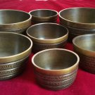 TIBETAN CHAKRA HEALING SINGING BOWLS SET OF 7 BOWLS WITH CUSHION AND MALLET