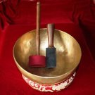 "Handmade Tibetan Meditation Singing Bowl 8.7"" inch with Free Cushion and Mallet"